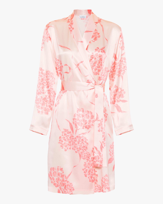La Perla Floral Short Silk Robe 0