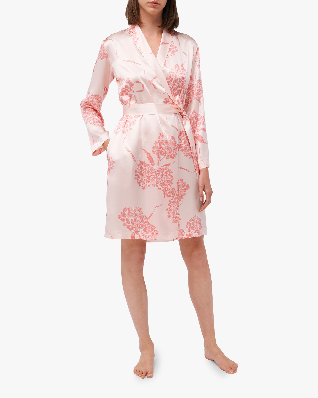 La Perla Floral Short Silk Robe 2