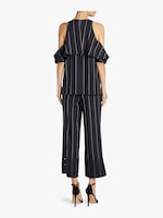 Yigal Azrouël Pinstripe Cold Shoulder Top 3