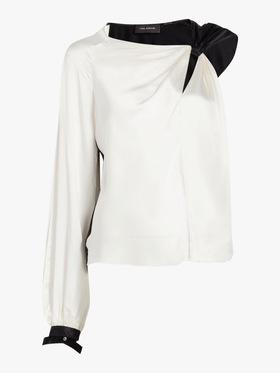 One Sleeve Tie Knot Top