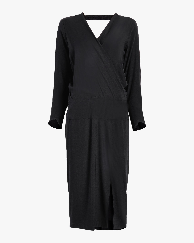Long Sleeve Wrap Jazmin Dress