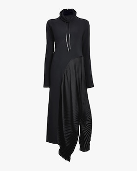 High Neck Pleated Circle Dress