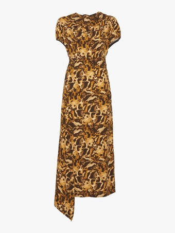 Drape Neck Midi Dress