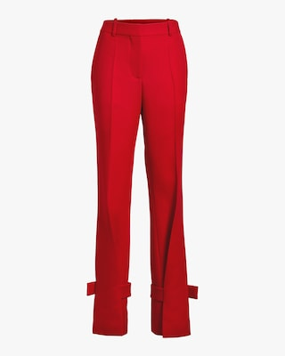 Wrapped Ankle Cuff Trouser