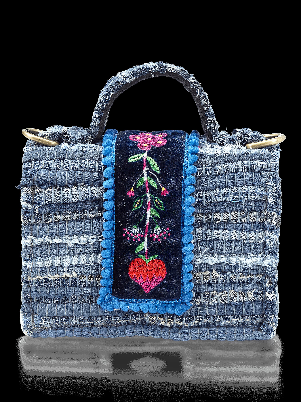 Divine Petit Fabric Top Handle Bag