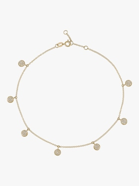 Diamond Pavé Dangle Drop Anklet