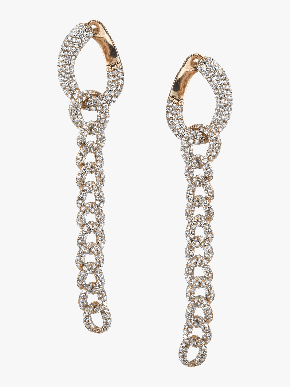 Essential Pavé Link Earrings