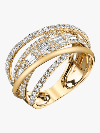 Baguette Diamond Orbit Ring