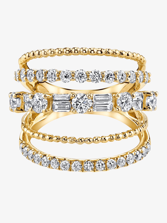 Closed Mixed Diamond Ring