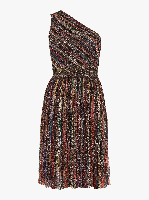 Lurex One Shoulder Dress