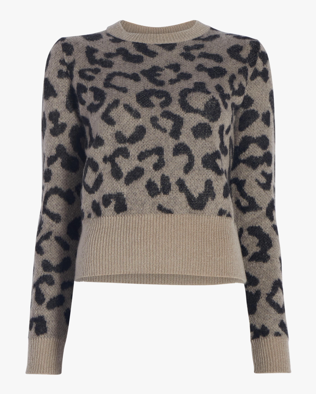 Alpaca Mohair Leopard Sweater