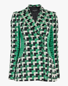 Checkered Hourglass Blazer