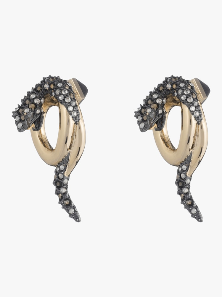 Coiled Snake Stud Earrings Alexis Bittar