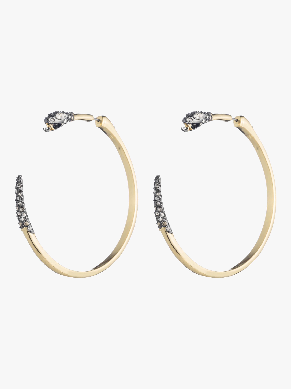 Two Part Snake Hoop Earrings