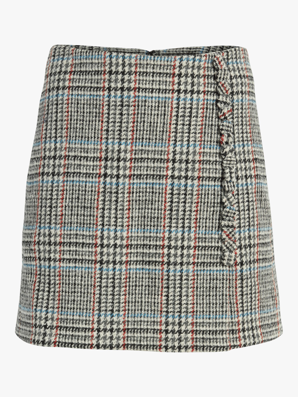 Scottish Tweed Wrap Mini Skirt