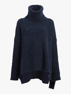 Marled Cashmere Turtleneck Sweater