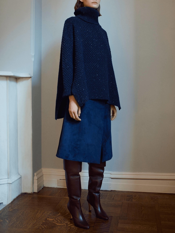 Marled Cashmere Turtleneck Sweater