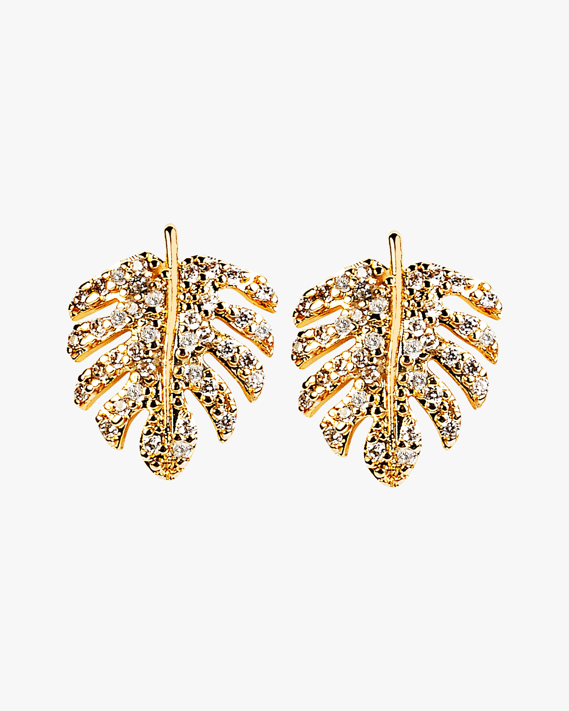 Essere Shiny Adam's Rib Petite Stud Earrings 1