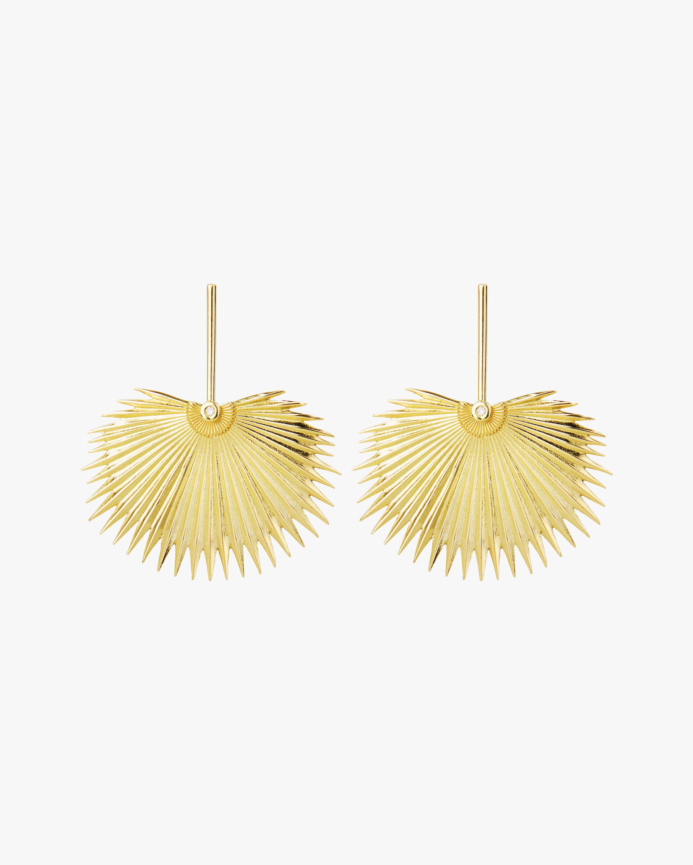 Essere Fan Leaf Earrings 1