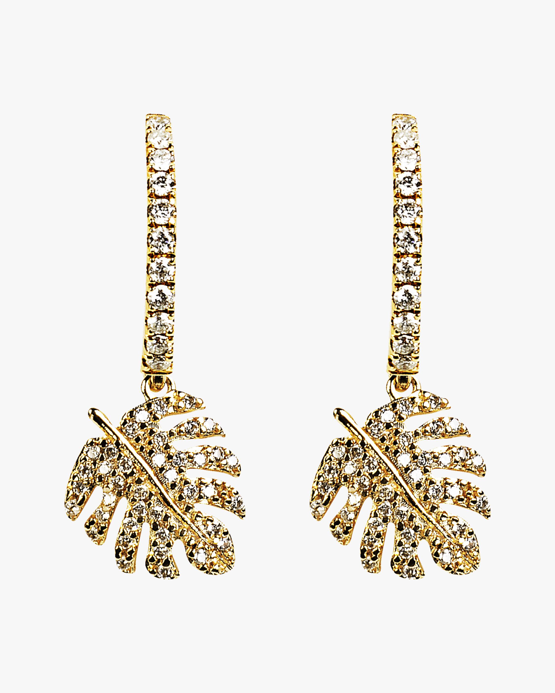 Essere Adam's Rib Petite Diamond Hoop Earrings 0