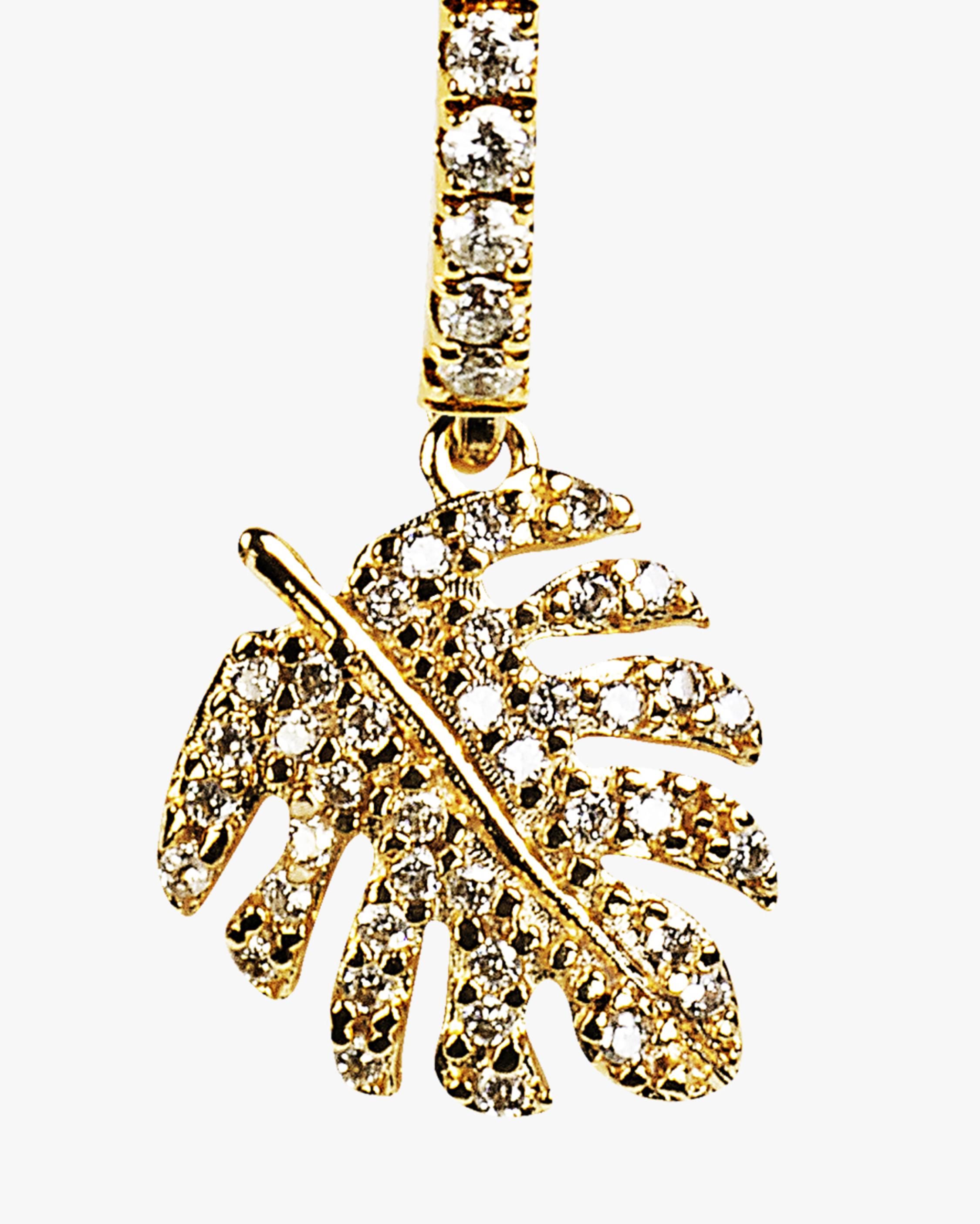 Essere Adam's Rib Petite Diamond Hoop Earrings 2