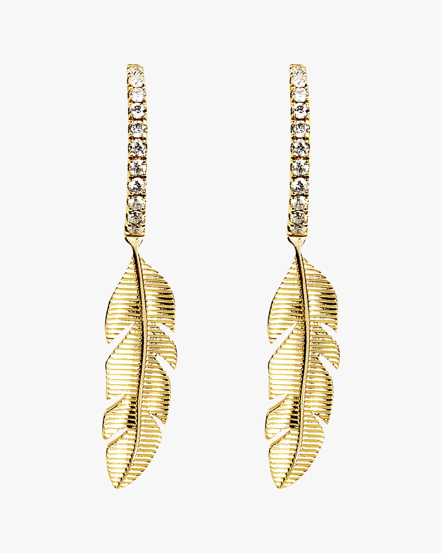 Essere Banana Leaf Hoop Earrings 0