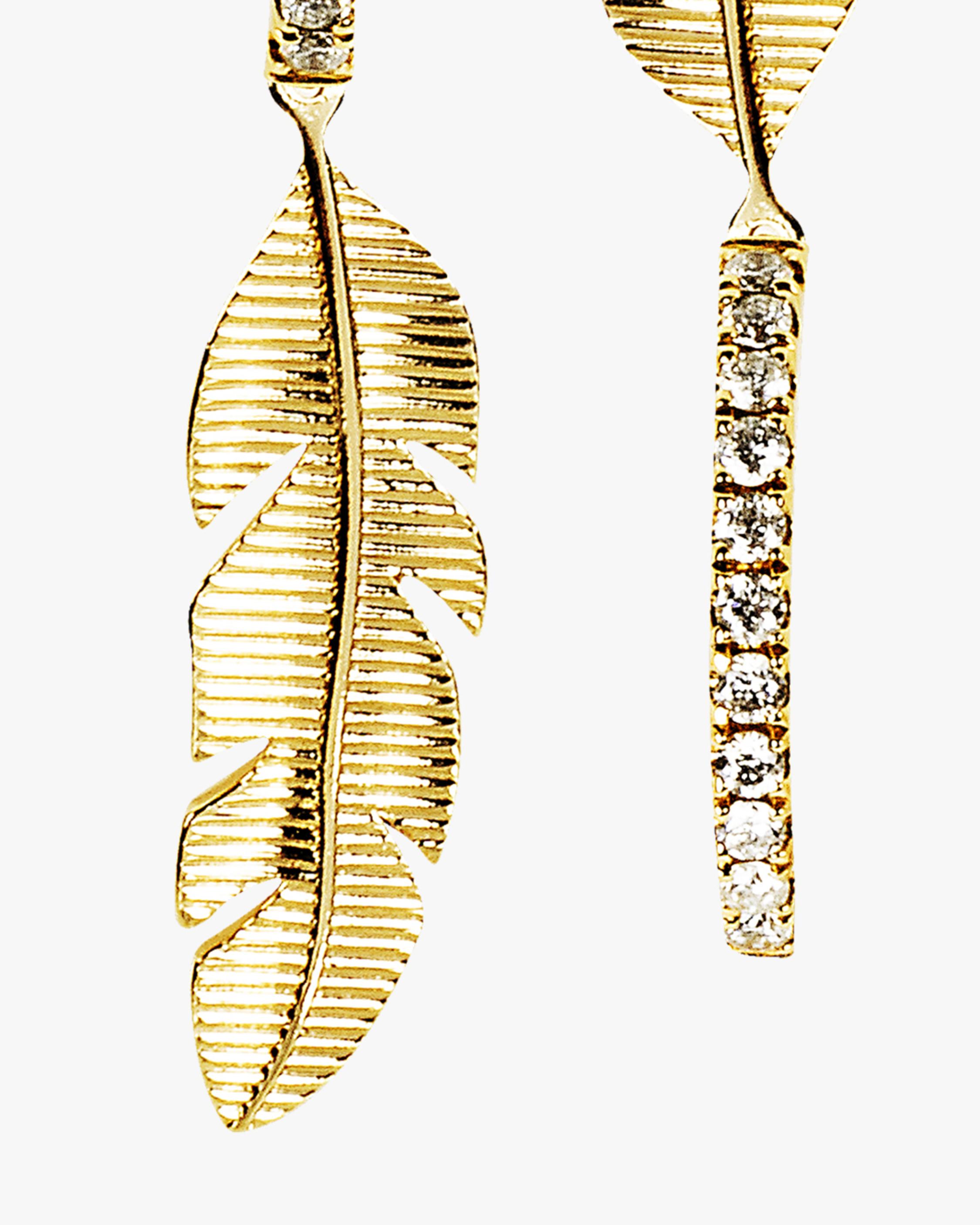 Essere Banana Leaf Hoop Earrings 1