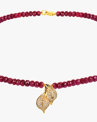 Essere Ruby Beaded Necklace 2