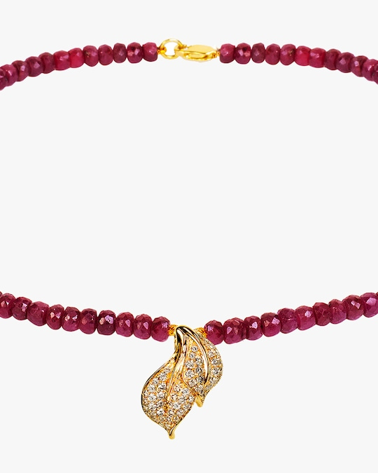 Essere Ruby Beaded Necklace 1