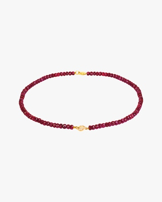Essere Ruby Beaded Pendant Necklace 1