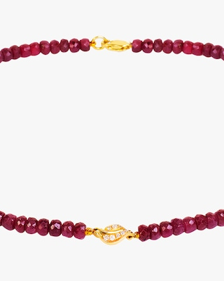 Essere Ruby Beaded Pendant Necklace 2