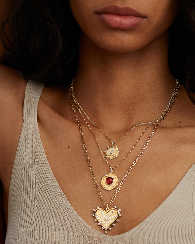 Marlo Laz Toujours Heart Pendant Necklace 1