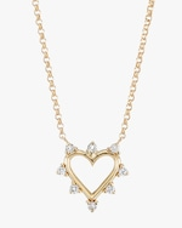 Marlo Laz Mini Open Heart Pendant Necklace 0