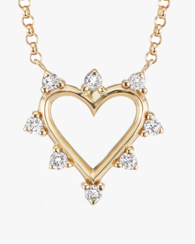 Marlo Laz Mini Open Heart Pendant Necklace 2