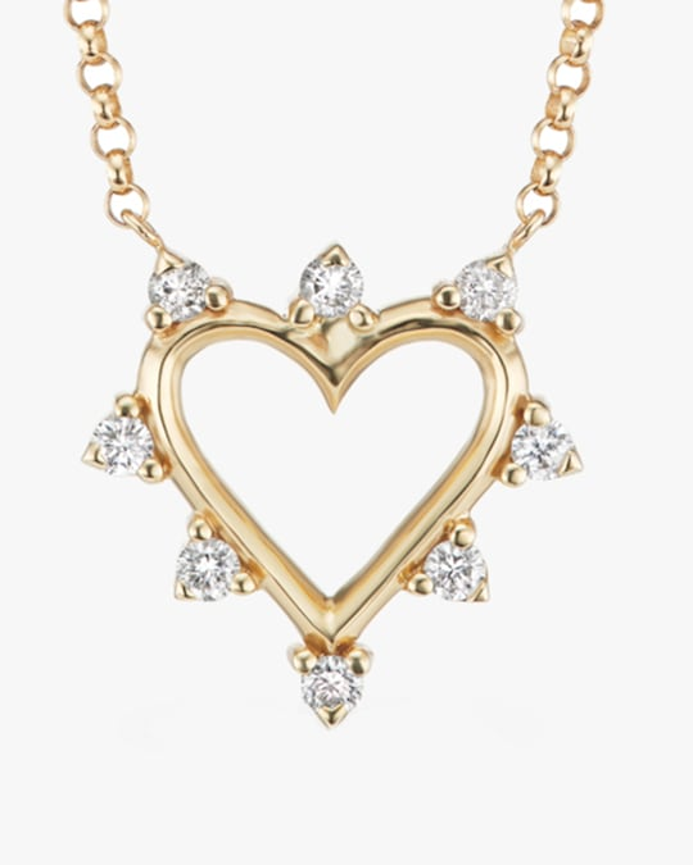Marlo Laz Mini Open Heart Pendant Necklace 1