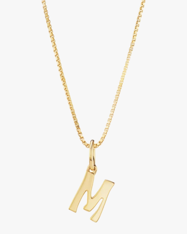 Marlo Laz Letter Charm Pendant Necklace 0