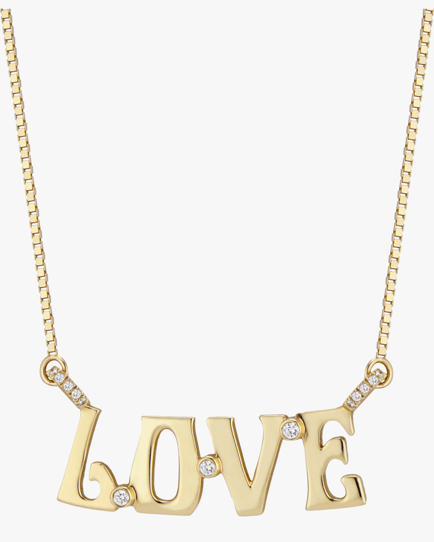 Marlo Laz Love Diamond Nameplate Necklace 0