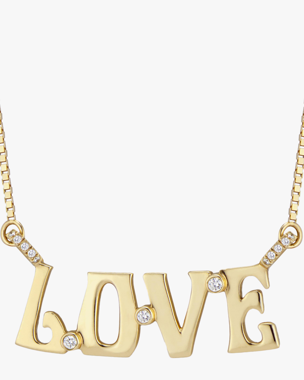 Marlo Laz Love Diamond Nameplate Necklace 1