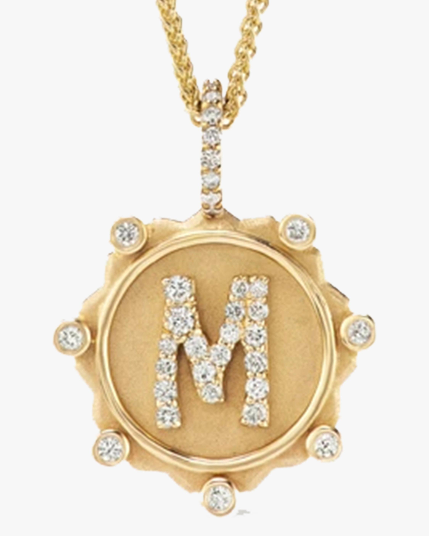 Marlo Laz Diamond Alphabet Pendant Necklace 2