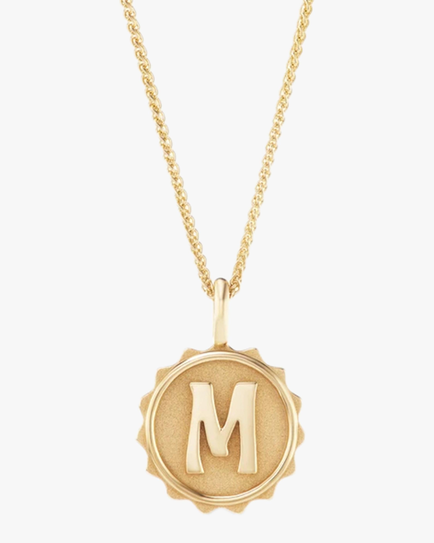 Marlo Laz Alphabet Coin Pendant Necklace 1