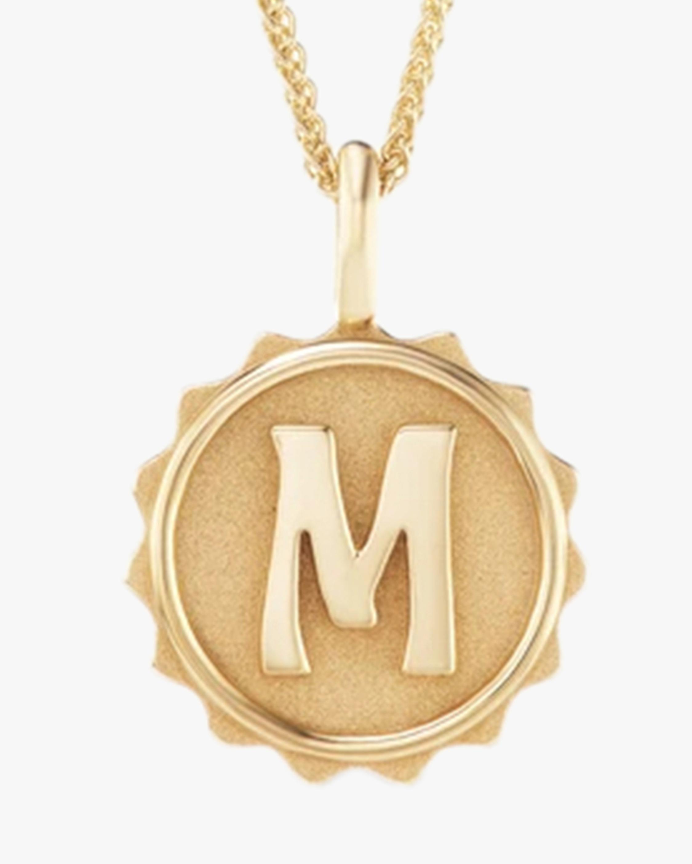 Marlo Laz Alphabet Coin Pendant Necklace 2