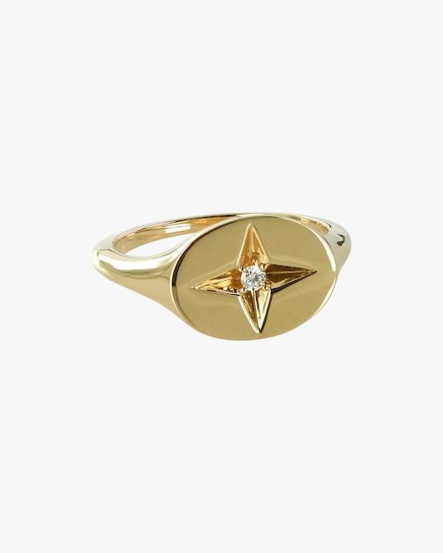 Marlo Laz Guiding Star Pinky Ring 0