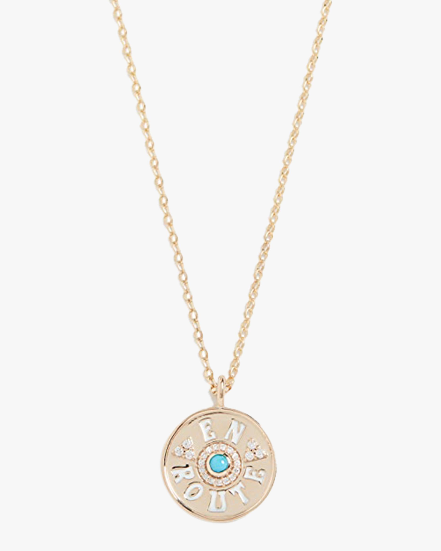 Marlo Laz Mini En Route Coin Pendant Necklace 0