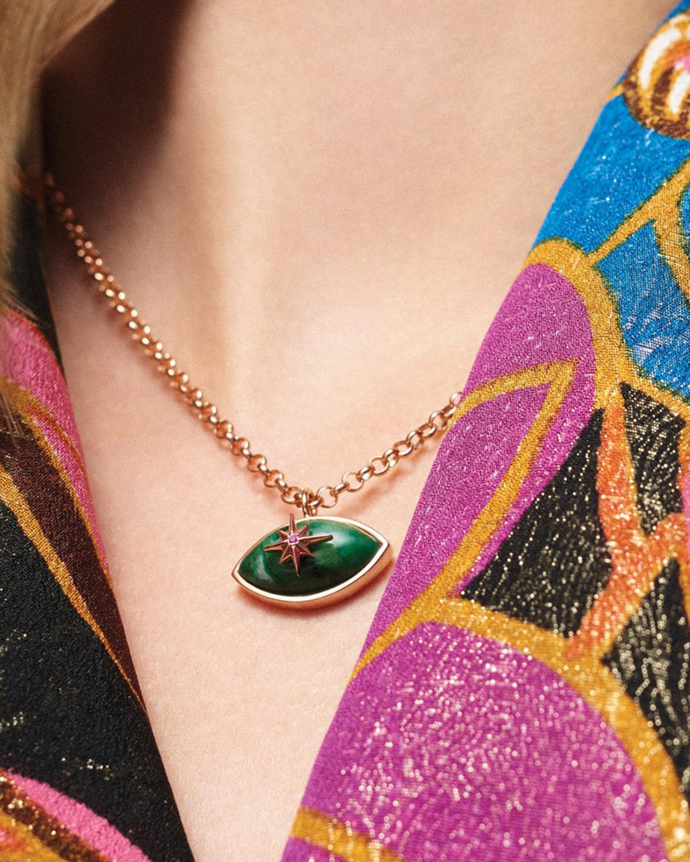 Marlo Laz Micro Eyecon Pendant Necklace 2