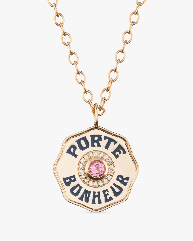 Marlo Laz Pink Tourmaline & Diamond PB Pendant Necklace 1