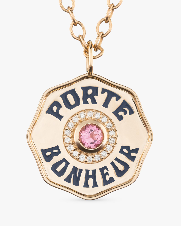 Marlo Laz Pink Tourmaline & Diamond PB Pendant Necklace 2