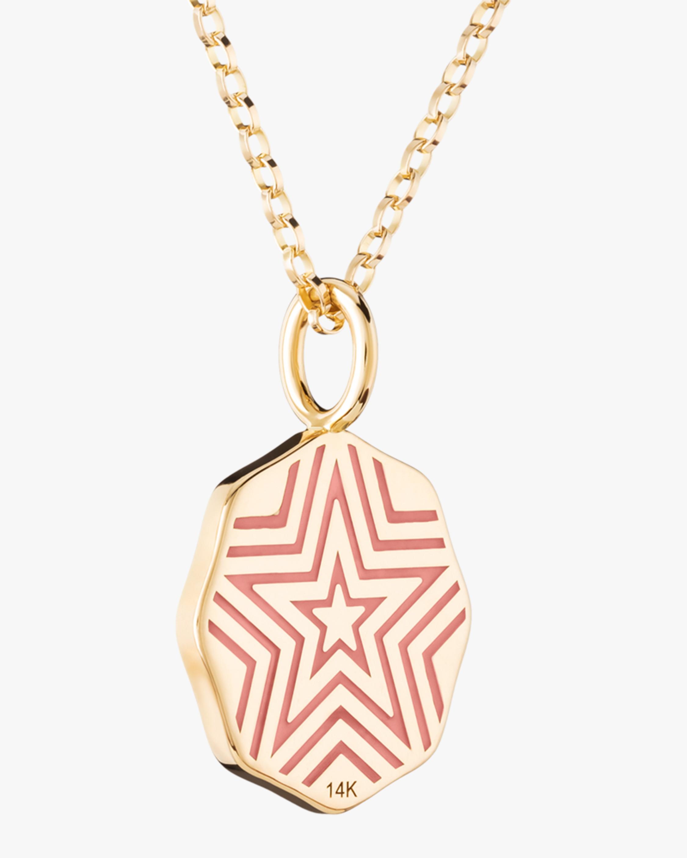 Marlo Laz Citrine & Diamond Mini PB Coin Necklace 2