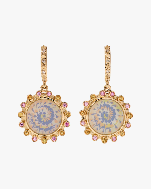 Marlo Laz Lavender & Sapphire Spiral Earrings 0