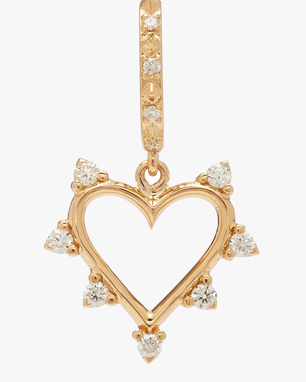 Marlo Laz Mini Open Heart Earrings 2