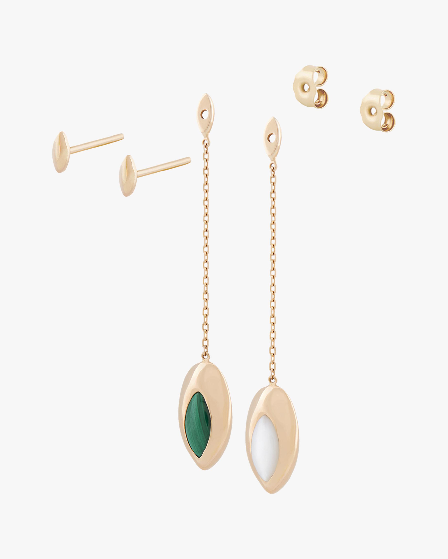 Marie Mas Short Swinging Chain Earrings 1